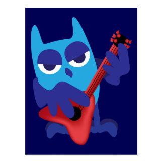 Carte Postale Hibou de bleu de Rockin