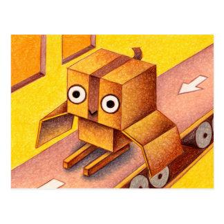Carte Postale Hibou de boîte