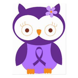 Carte Postale Hibou de fibromyalgie