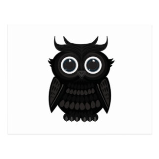 Carte Postale Hibou noir