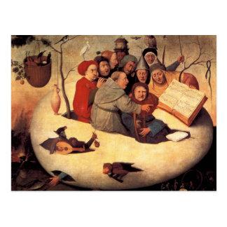 Carte Postale Hieronymus Bosch- le concert dans l'oeuf