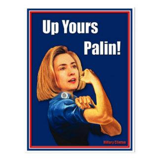Carte Postale Hillary Clinton, Rosie le rivoir, vers le haut du