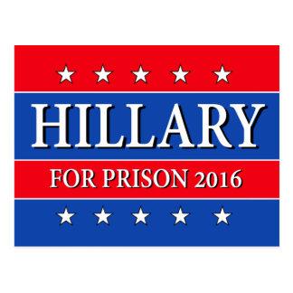"CARTE POSTALE ""HILLARY POUR LA PRISON 2016 """