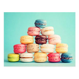 Carte Postale Hippie affamé de Macaron, multicolore, biscuits de