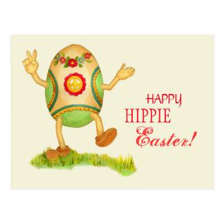 Carte postale hippie drôle de Pâques