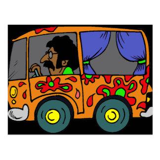 Carte Postale Hippie Van d'années '60