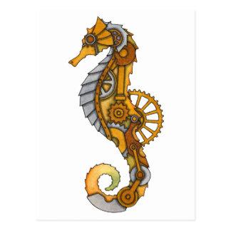 Carte Postale Hippocampe de Steampunk