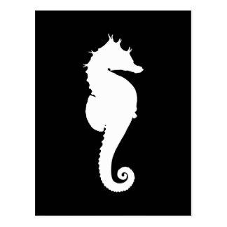 Carte Postale Hippocampe noir et blanc