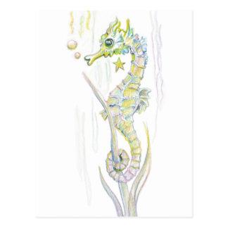 Carte Postale Hippocampe succulent