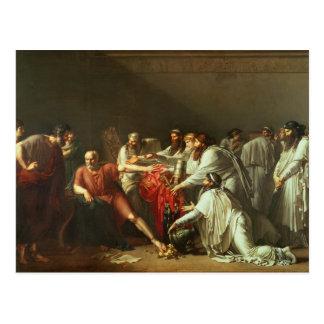 Carte Postale Hippocrate refusant les cadeaux d'Artaxerxes I