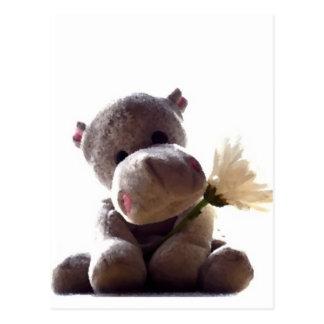 Carte Postale Hippopotame heureux