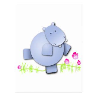 Carte Postale Hippopotame mignon de danse