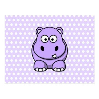 Carte Postale Hippopotame mignon de lavande