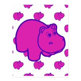 Carte Postale Hippopotame pourpre