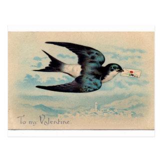 Carte Postale Hirondelle Valentine
