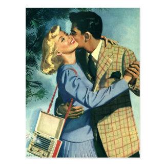 Carte Postale Histoires d'amour vintages, danse de Noël