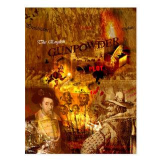 Carte postale historique de nuit de feu