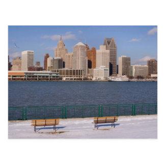 Carte Postale hiver à Detroit