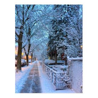 Carte Postale Hiver à Montréal