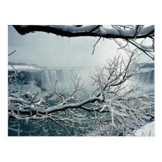 Carte Postale Hiver de chutes du Niagara, Ontario, Canada