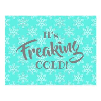Carte Postale Hiver drôle Freaking des vacances froides