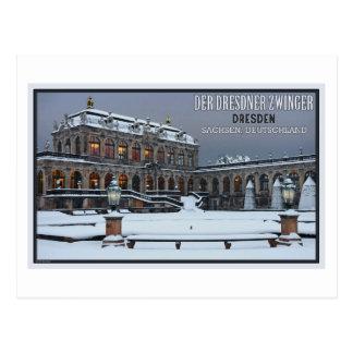 Carte Postale Hiver LS de Dresde - de palais de Zwinger