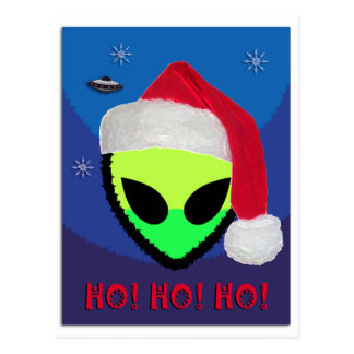 Carte Postale HO ! HO ! HO ! des aliens