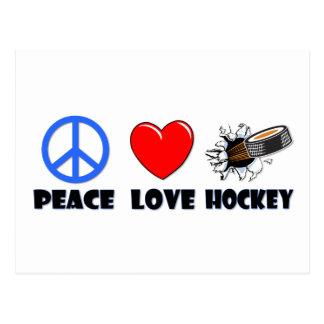 Carte Postale Hockey d'amour de paix