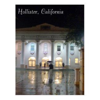 Carte Postale Hollister, le bâtiment commémoratif des vétérans