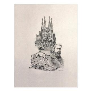 """Carte Postale """"Hommage à Gaudi """""""