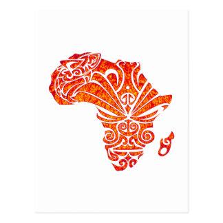 CARTE POSTALE HOMMAGE VERS L'AFRIQUE