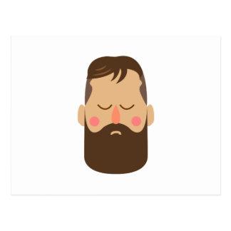Carte Postale Homme barbu