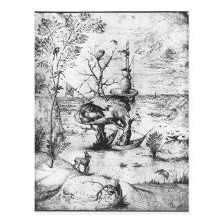 Carte Postale Homme d'arbre par Hieronymus Bosch