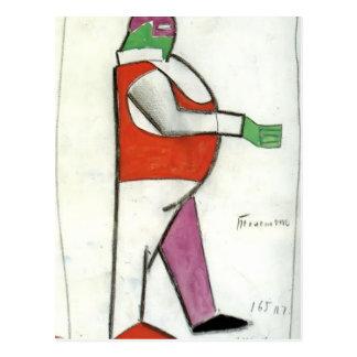 Carte Postale Homme de graisse de Kazimir Malevich-