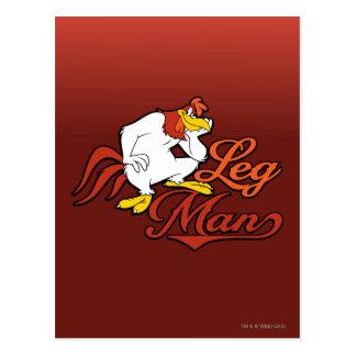 Carte Postale Homme de jambe