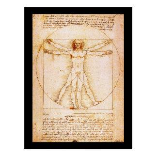 Carte Postale Homme de Vitruvian - Leonardo da Vinci