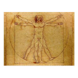Carte Postale Homme de Vitruvian par Leonardo da Vinci