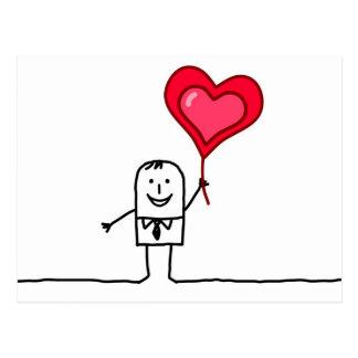 Carte Postale Homme et coeur