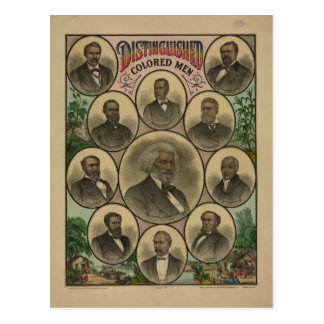 Carte Postale Hommes colorés distingués Frederick Douglass 1883
