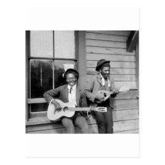 Carte Postale Hommes de couleur jouant Guitar, 1902