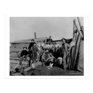 Carte Postale Hommes de Klondike après chasse du lagopède alpin