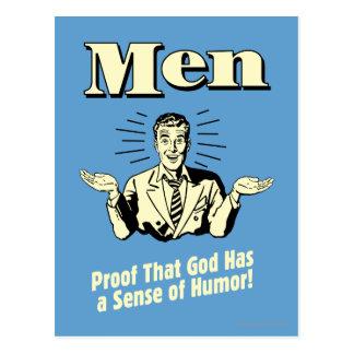 Carte Postale Hommes : Sens de l'humour
