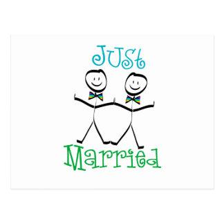 Carte Postale Homosexuel juste marié