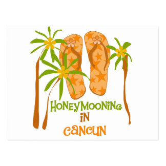 Carte Postale Honeymooning dans Cancun