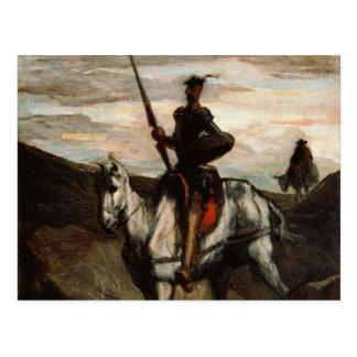 Carte Postale Honore Daumier - Don don Quichotte dans les