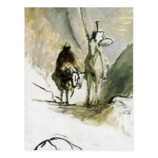 Carte Postale Honore Daumier- Don don Quichotte, Sancho Pansa