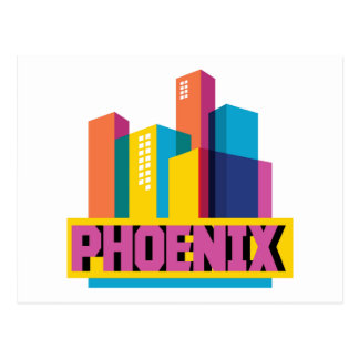 Carte Postale Horizon au néon de Phoenix, Arizona |