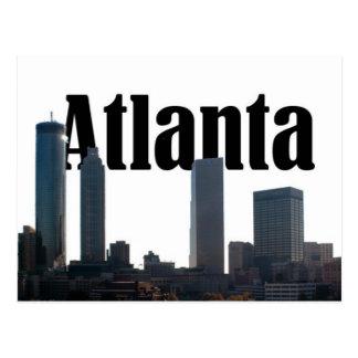 Carte Postale Horizon d'Atlanta la Géorgie avec Atlanta dans le