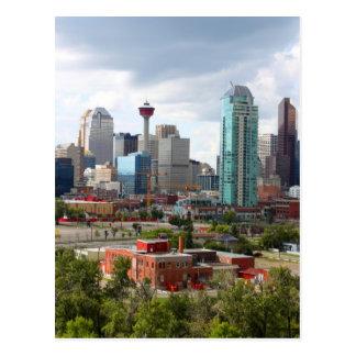 Carte Postale Horizon de Calgary avec les bâtiments et la tour