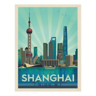 Carte Postale Horizon de Changhaï, Chine |